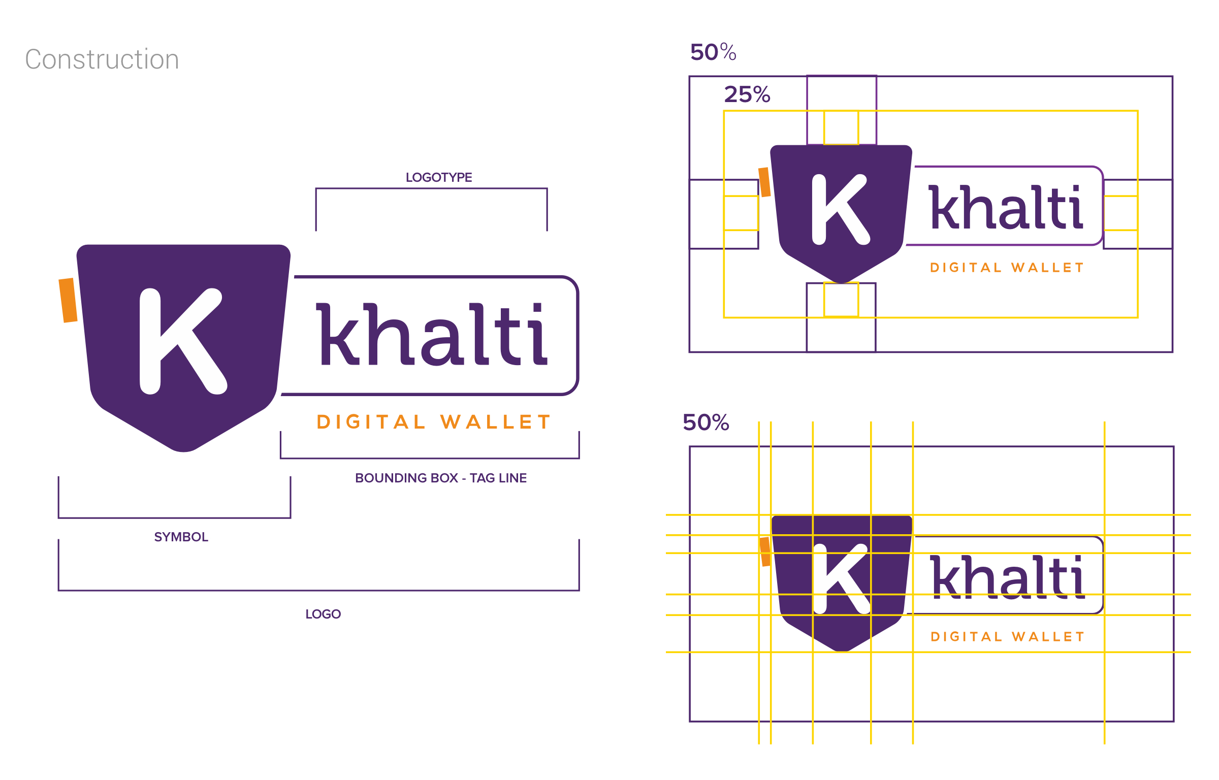 Khalti Logo Construction
